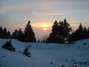 Paysage Haute Savoie - Couché de soleil en montagne.