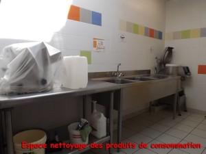Espace nettoyage des produits de consommation